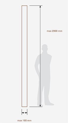 Najvišja dolžina jesenove masivne deske ali troslojnega parketa Edelholz